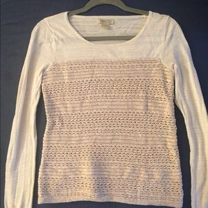 Lucky Brand, light weight, ivory and beige sweater